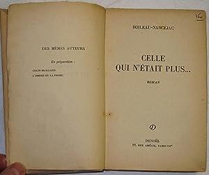 Celle qui n'était plus.: Boileau-Narcejac; Pierre Louis Boileau (1906-1989), Pierre Ayraud dit ...