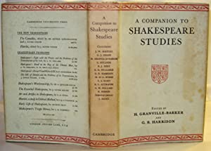A Companion to Shakespeare Studies