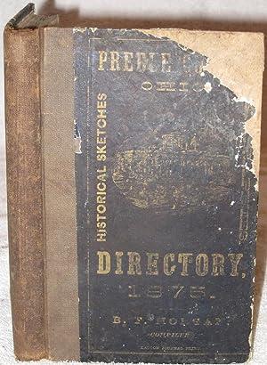Directory of Preble County, O. for 1875.: Morgan, B. F.