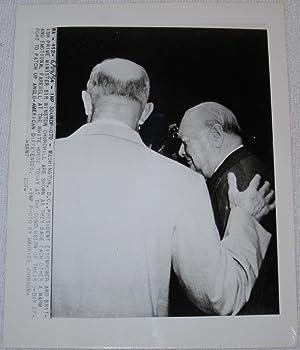 Press Photograph of Winston Churchill and President Dwight Eisenhower: Winston Churchill; Dwight ...