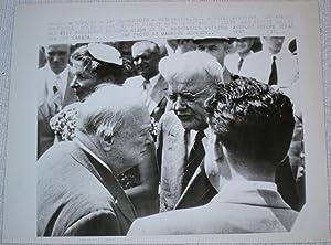 Press Photograph of Winston Churchill, John Foster Dulles and Richard Nixon: Winston Churchill; ...
