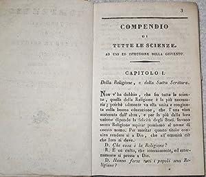 Compendio, ovvero saggio di tutte le scienze ad uso de' fanciulli. Nuova edizione migliorata, ...