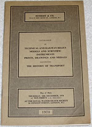 Catalogue of Technical and Railway Relics models: Sotheby
