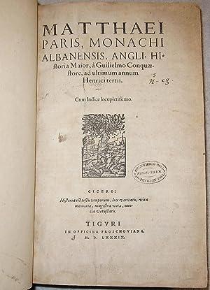 Matthaei Paris, Monachi Albanensis, Angli, historia maior,: Paris, Matthew (c.