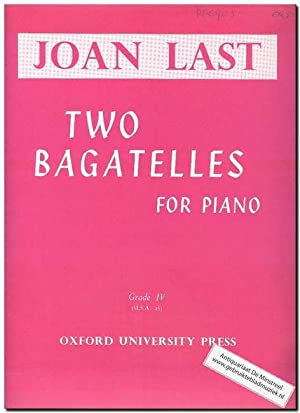 Two Bagatelles for Piano Music Book Joan Last