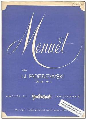 Menuet op.14 no.1: Paderewski, I.J.