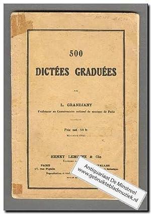500 Dictees Graduees: Grandjany, L