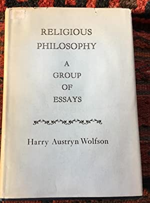 Religious Philosophy A Group Of Essays