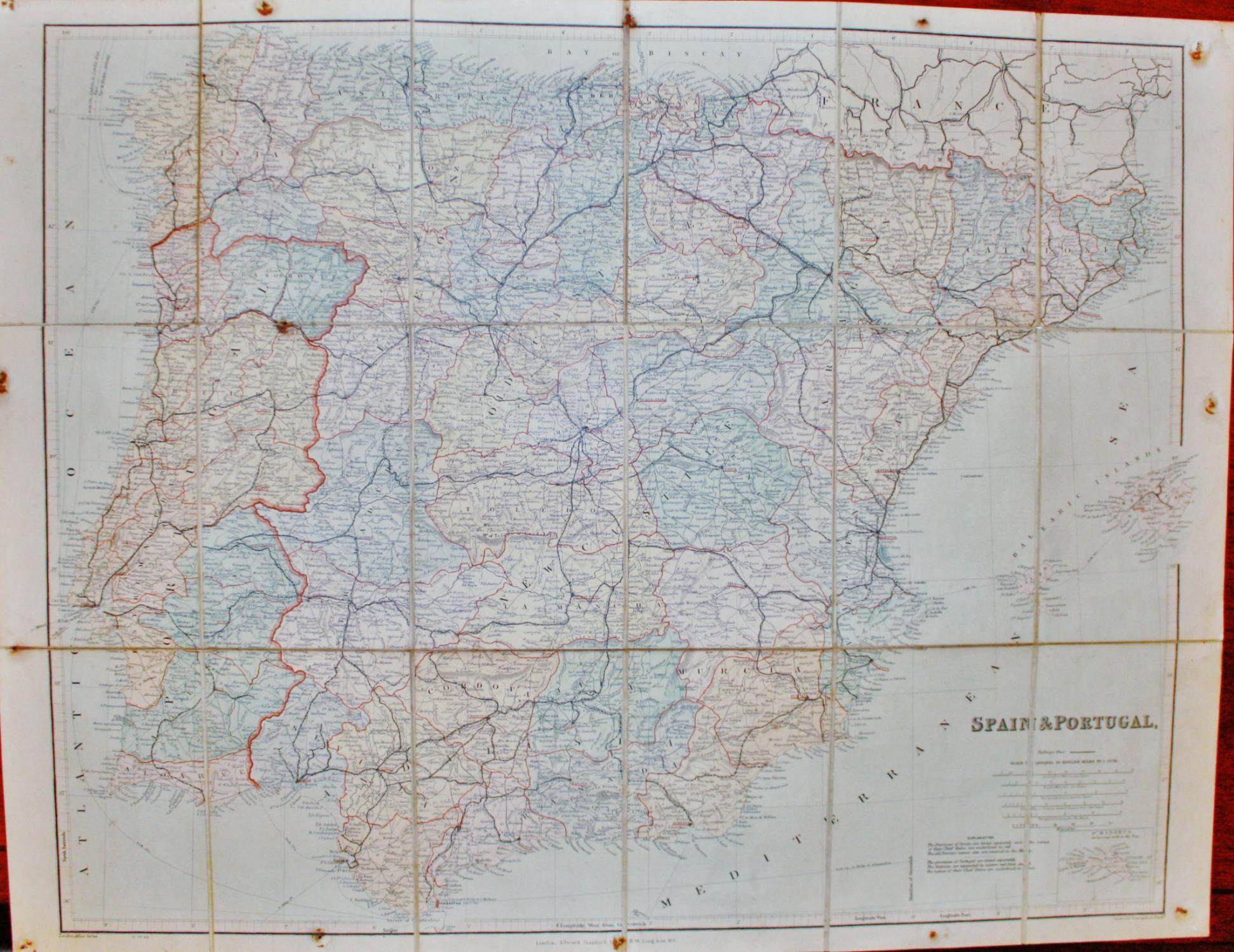 London Atlas Map.London Atlas Map Of Spain And Portugal