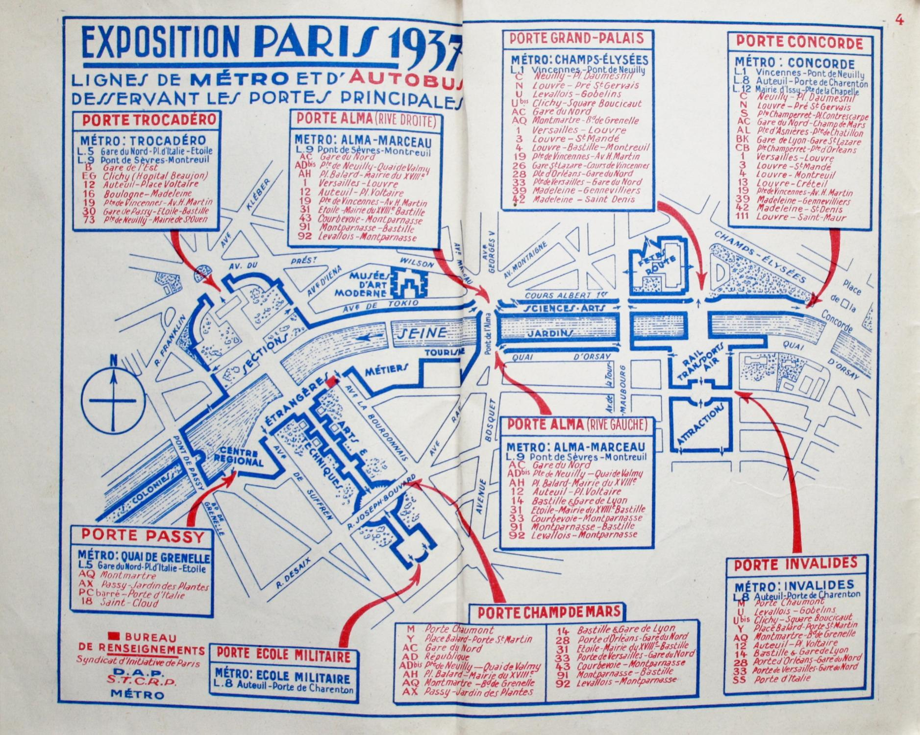 Paris Tourists\' Plan (Paris Exposition / ...