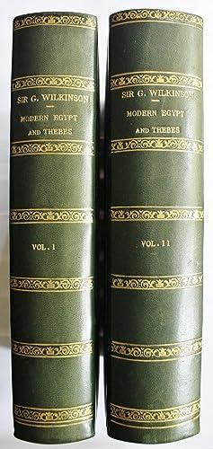 Modern Egypt and Thebes: Being a Description: Wilkinson, John Gardner.