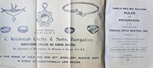 Southern India Rifle Association Rules and Programme: 47th Annual Rifle Meeting 1914 at Bangalore. ...