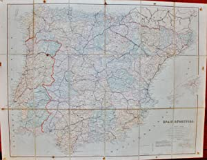 London Atlas Map of Spain and Portugal.: STANFORD, Edward.