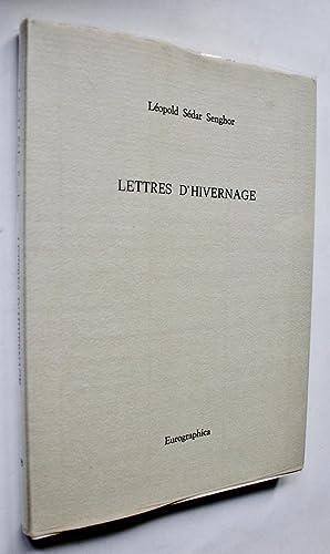 Lettres d'Hivernage.: Senghor, Léopold Sédar.