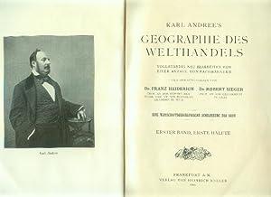 Karl Andree's Geographie des Welthandels. Vollständig neu: HEIDERICH, Franz /