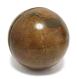 Andrew's Five Inch Terrestrial Globe. Manufactured by A.H. Andrews & Co. Chicago, Ill.