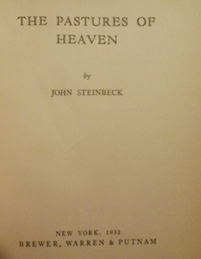 the pastures of heaven 08082018 pastures of heaven rare book for sale this first edition by john steinbeck is available at bauman rare books.
