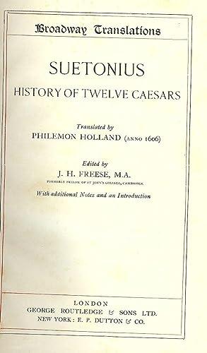SUETONIUS: HISTORY OF TWELVE CAESARS: FREESEM J.H.