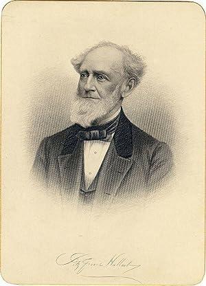 Cabinet Card Portrait Engraving: HALLECK, Fitz-Greene