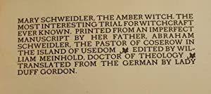 THE AMBER WITCH: MEINHOLD, William