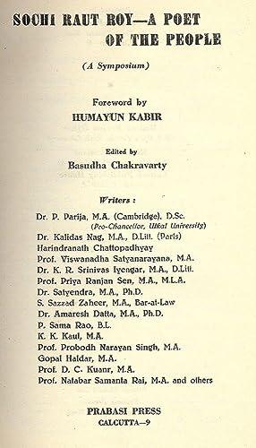 SOCHI RAUT ROY- A POET OF THE PEOPLE (A SYMPOSIUM): CHAKRAVARTY, Basudha