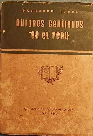 AUTORES GERMANOS EN EL PERU: NUNEZ, Estuardo