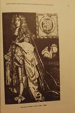 JOHN FENWICK AND SALEM COUNTY IN THE PROVINCE OF WEST JERSEY: HARPER, Robert W.