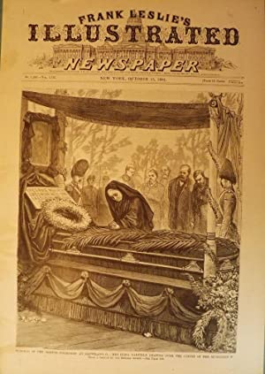 PRESIDENT GARFIELD ASSASSINATION: FUNERAL PRINT, 1881: FRANK LESLIE'S ILLUSTRATED NEWSPAPER