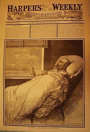 LONG BRANCH: ELBERON- GARFIELD ASSASSINATION PRINT, 1881: HARPER'S WEEKLY