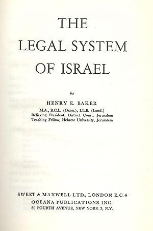 THE LEGAL SYSTEM OF ISRAEL: BAKER, Henry E.