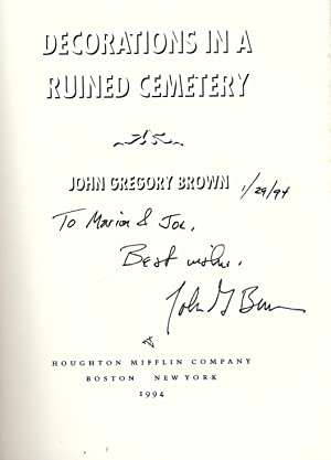 DECORATIONS IN A RUINED CEMETERY: BROWN, John Gregory