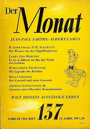 DER MONAT MAGAZINE FEBRUARY 1960 WALT DISNEY'S AUFSASSIGE ERBEN: DISNEY, Walt