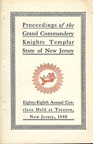 PROCEEDINGS GRAND COMMANDERY KNIGHTS TEMPLAR STATE NEW JERSEY 1948: HOLTZ, Sir Knight Raymond B.