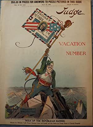 HOLD UP THE REPUBLICAN BANNER. VOL.56, #1441 MAY 29, 1909: JUDGE MAGAZINE
