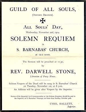THE INVOCATION OF SAINTS: STONE, Darwell
