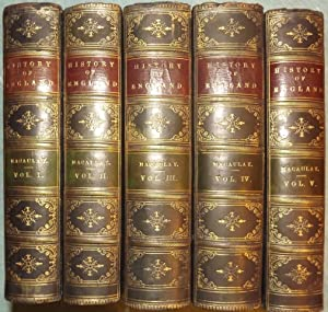 THE HISTORY OF ENGLAND FROM THE ACCESSION OF JAMES II. FIVE LEATHER-BOUND VOLUMES