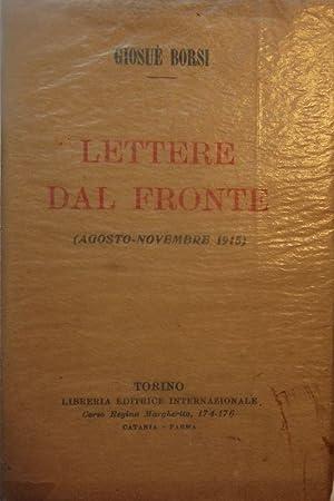 LETTERE DAL FRONTE: AGOSTO-NOVEMBRE 1915: BORSI, Giosue