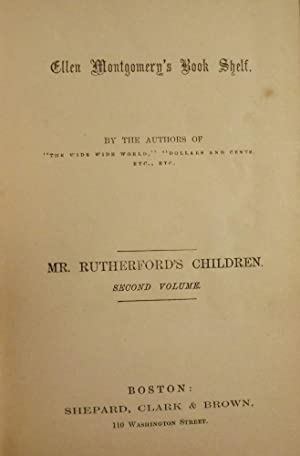 MR. RUTHERFORD'S CHILDREN: VOLUME TWO: WARNER, Susan Anna