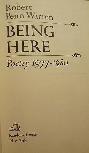 BEING HERE: WARREN, ROBERT PENN