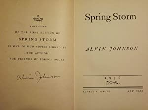 SPRING STORM: JOHNSON, ALVIN