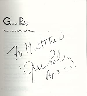 NEW AND COLLECTED POEMS: PALEY, Grace