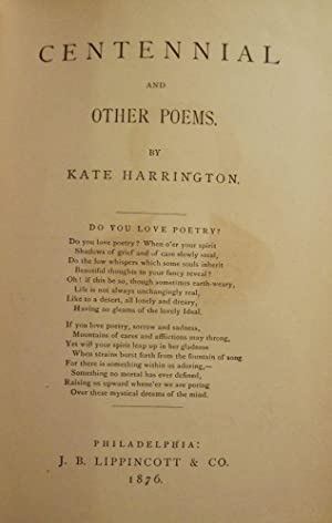 CENTENNIAL AND OTHER POEMS: HARRINGTON, Kate