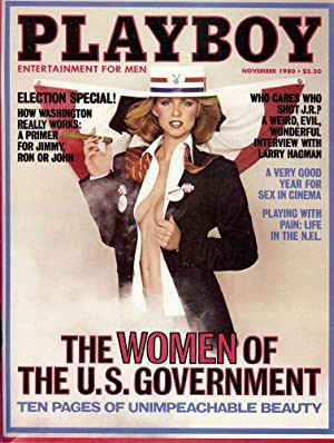 """IT'S NO FUN BEING A GIRL."""" In Playboy magazine, November 1980: MANO, Dr. Keith"""