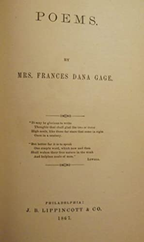 POEMS: GAGE, Frances Dana
