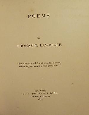 POEMS: LAWRENCE, Thomas N.