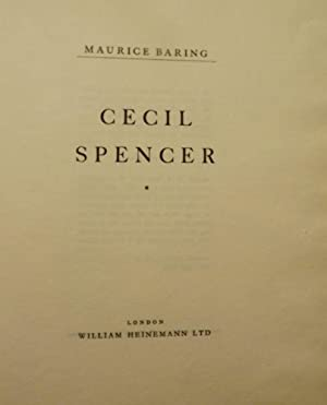 CECIL SPENCER: BARING, MAURICE