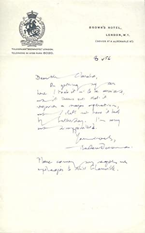Autograph Letter Signed: BESTERMAN, Theodore