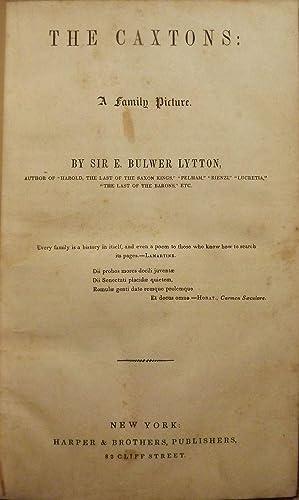 THE CAXTONS: BULWER LYTTON, E.