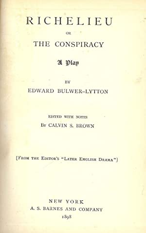 RICHELIEU: BULWER-LYTTON, Edward