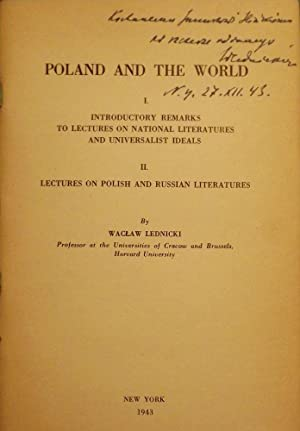 POLAND AND THE WORLD: LEDNICKI, Waclaw